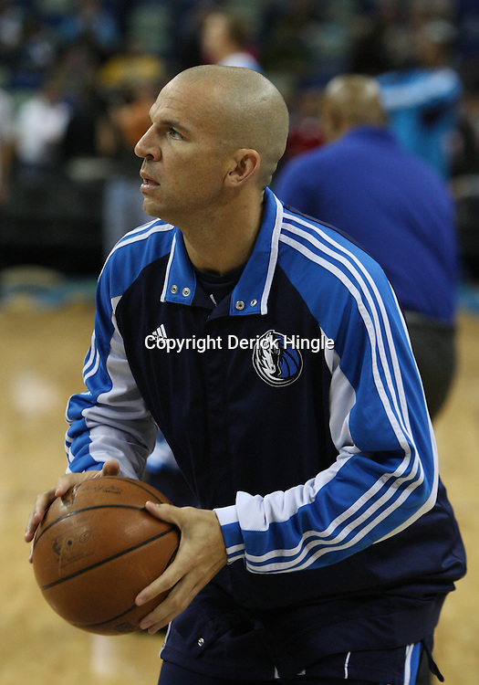 05 March 2009: Dallas Mavericks guard Jason Kidd during shoot around prior to tip off a NBA game between the New Orleans Hornets and the Dallas Mavericks at the New Orleans Arena in New Orleans, Louisiana.