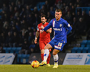 Cody McDonald during the Sky Bet League 1 match between Gillingham and Leyton Orient at the MEMS Priestfield Stadium, Gillingham, England on 15 November 2014.