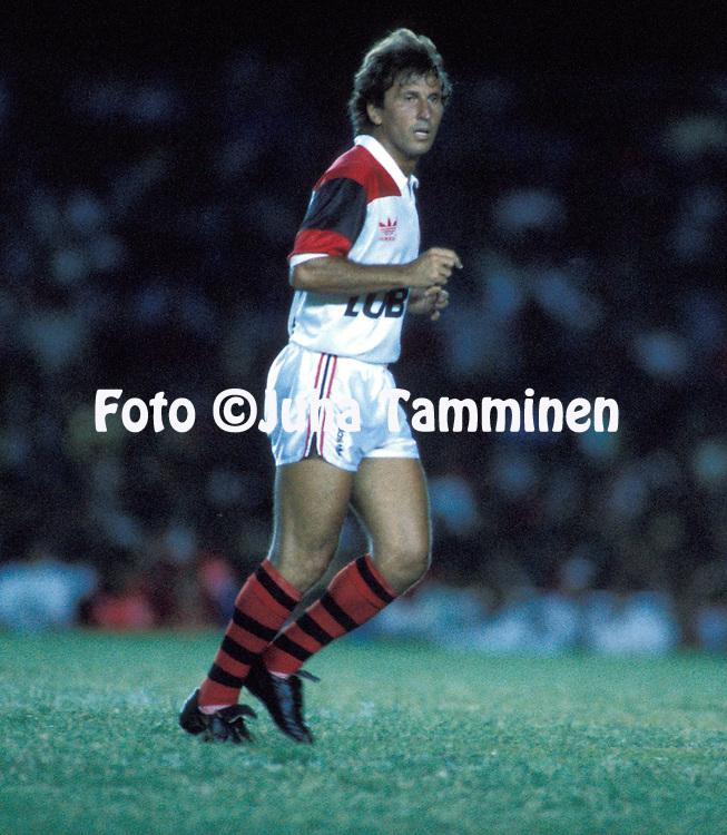 06.02.1990, Maracan< Stadium, Rio de Janeiro, Brazil.   .Zico of Flamengo playing in his farewell match.Full name: Arthur Antunes Coimbra .©JUHA TAMMINEN