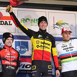 14-12-2019: Wielrennen: DVV trofee veldrijden: Ronse: Toon Aerts wint in Ronse voor Eli Iserbyt en Mathieu van der Poel