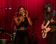 TIERINII JACKSON of Southern Avenue performs at Hotel Cafe in Los Angeles, California.