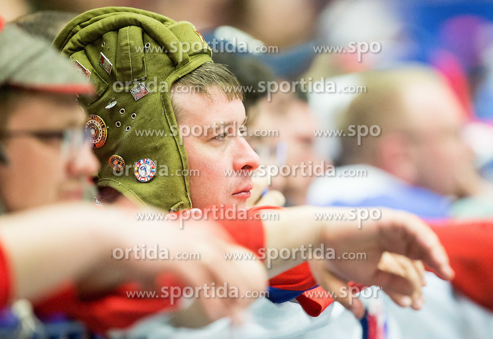 Supporters of Russia during Ice Hockey match between Russia and USA at Day 4 in Group B of 2015 IIHF World Championship, on May 4, 2015 in CEZ Arena, Ostrava, Czech Republic. Photo by Vid Ponikvar / Sportida