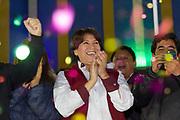 El primer minuto del 3 de abril del 2017 marcó el arranque de la campaña por la gubernatura del Estado de México de Delfina Gómez Álvarez. Su primer evento lo realizó en su natal Texcoco, municipio que gobernó.