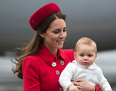 Will-Kate-New Zealand Arrival-7-4-14