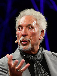© London News Pictures. 05/06/2016.  Hay on Wye, UK<br /> Sir Tom Jones, speaking in public for the first time since the death of his wife, talking about his new autobiography on the final day of the 2016 Hay Festival of Literature and the Arts. Photo credit: Keith Morris/LNP