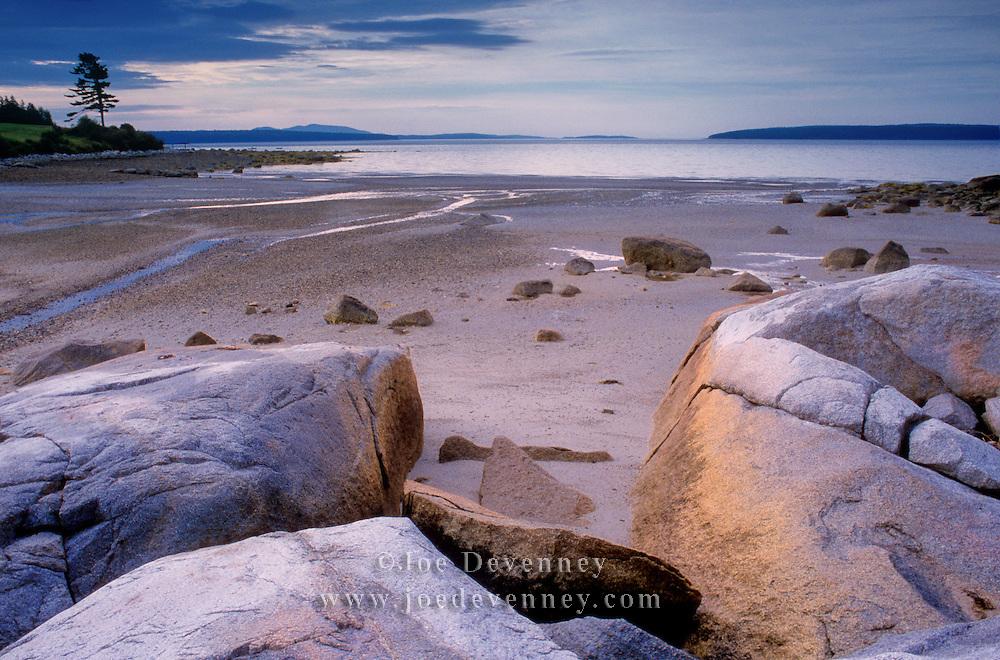 Boulders at low tide. Blue Hill Bay. Castine, Maine