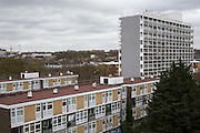 A view of the Loughborough estate from the roof of Elmore House on the Loughborough Estate in Brixton. United Kingdom. (photo by Andrew Aitchison / In pictures via Getty Images)