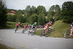 Emilie Moberg (NOR) rides mid-pack during the 97,1 km second stage of the 2016 Ladies' Tour of Norway women's road cycling race on August 13, 2016 between Mysen and Sarpsborg, Norway. (Photo by Balint Hamvas/Velofocus)