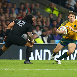 LONDON, ENGLAND - OCTOBER 31: Drew Mitchell of Australia during the Rugby World Cup Final match between New Zealand vs Australia Final, Twickenham, London on October 31, 2015 in London, England. (Photo by Steve Haag)