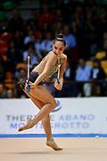 Salome Pazhava atleta della società La Fenice di Spoleto durante la seconda prova del Campionato Italiano di Ginnastica Ritmica.<br /> La gara si è svolta a Desio il 31 ottobre 2015.<br /> Salome è un atleta georgiana nata nel 1997.