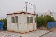 Abandoned housing estate shack in Costa Nova, Aveiro, Portugal.