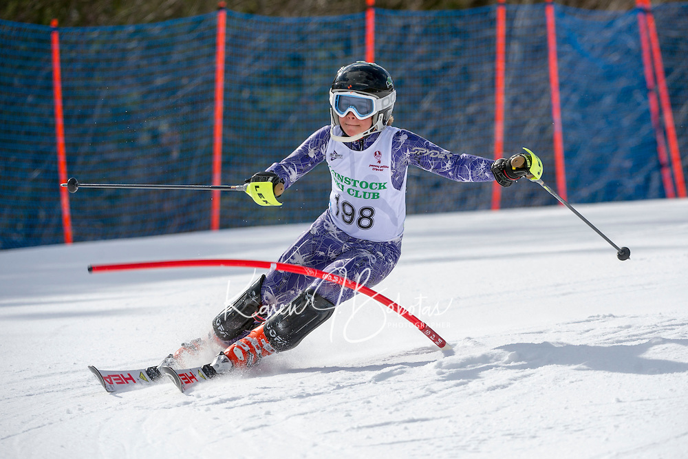 Piche Invitational Slalom U14 boys 1st run Sunday, March 17, 2013.  Karen Bobotas Photographer