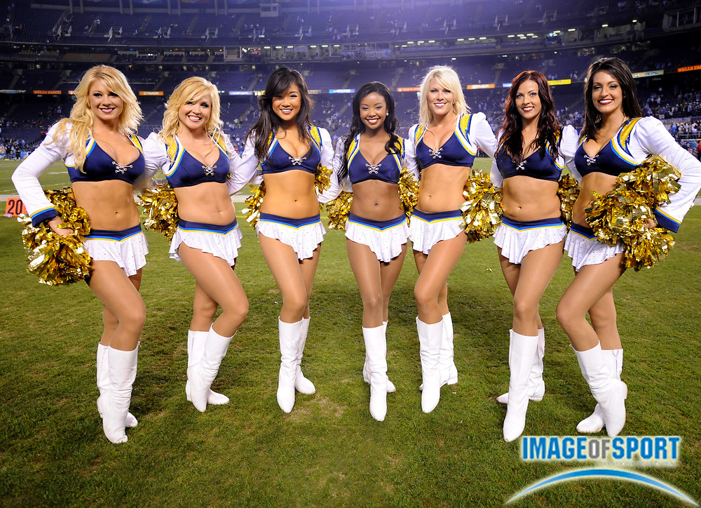 Dec 4, 2008; San Diego, CA, USA; San Diego Charger Girls cheerleaders pose during the game against the Oakland Raiders at Qualcomm Stadium.