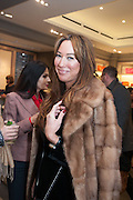 YASMIN MILLS; ALEX MEYERS, Smythson Sloane St. Store opening. London. 6 February 2012.