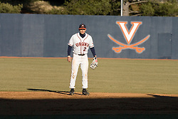 Virginia Cavaliers infielder Greg Miclat (2) plays shortstop against Bucknell.  The Virginia Cavaliers Baseball Team defeated the Bucknell University Bison 2-0 at Davenport Field in Charlottesville, VA on February 23, 2007.