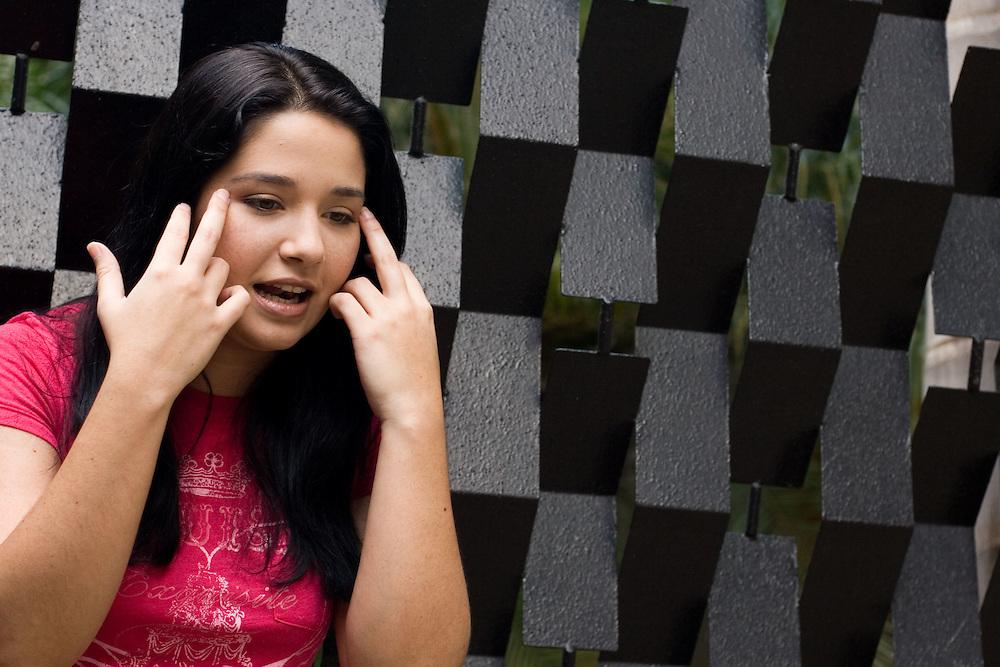 Daniela del Carmen Alvarado Alvarez (nacida el 23 de octubre de 1981 en Caracas) es hija de dos grandes actores venezolanos: Daniel Alvarado y de la actriz Carmen Julia Alvarez. Incursionó en el mundo de la actuación a los 4 años. Caracas, 14-05-08 (ivan gonzalez)