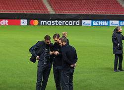December 4, 2017 - Piraeus, Greece - Juventus F.C walk around at Karaiskaki stadium on the eve of their UEFA Champions League group D match against Olympiakos Piraeus  (Credit Image: © Dimitris Lampropoulos/NurPhoto via ZUMA Press)