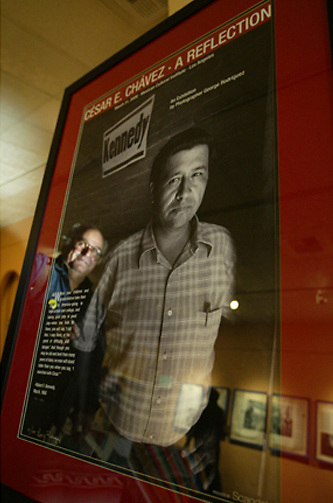 Prolific photographer George Rodriguez's opening at the Mexican Cultural Institute on March, 31, 2006, was the first time his images of Cesar Chavez have ever been seen. The show goes on through the end of April and then moves on to other cities.