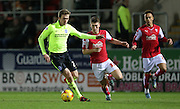 Brighton striker (on loan from Manchester United), James Wilson (21) gets forward during the Sky Bet Championship match between Rotherham United and Brighton and Hove Albion at the New York Stadium, Rotherham, England on 12 January 2016.