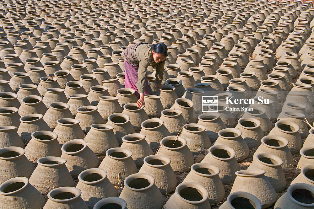 Making pottery in a village, Myanmar