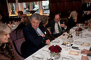 WILLIAM SHAWCROSS; ;Graydon and Anna Carter host a lunch for Carolina Herrera to celebrate the ipening of her new shop on Mount St. .The Connaught. London. 20 January 2010