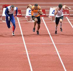 07-03-2015 CZE: European Athletics Indoor Championships, Prague<br /> Brian Mariano NED heeft de halve finales bereikt van de 60 meter.
