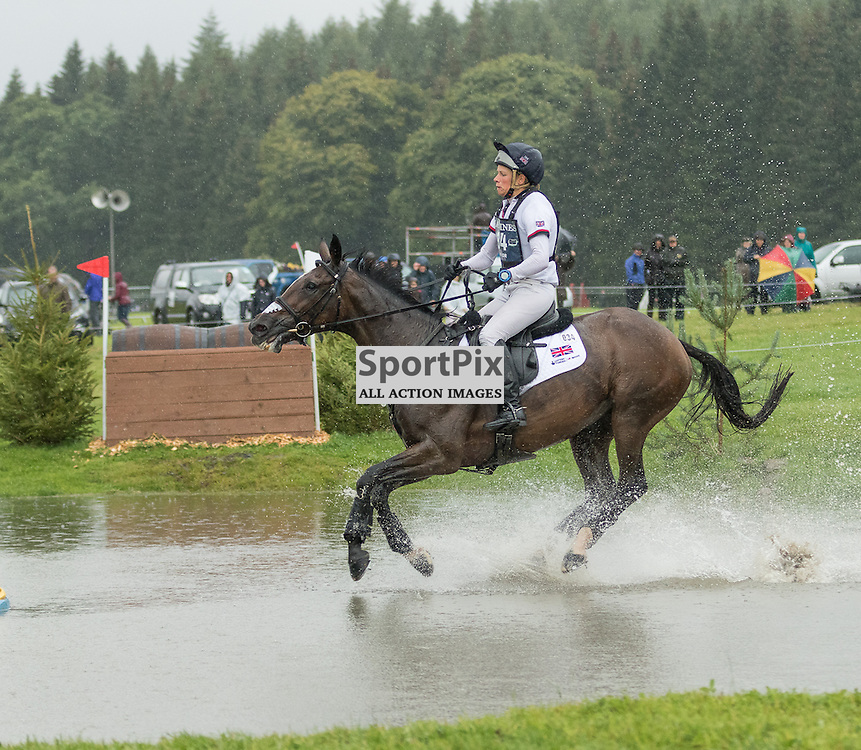 Izzy Taylor (GBR) on KBIS Briarlands Matilda.  Longines FEI European Eventing Championship 2015, Blair Castle, 12th September 2015