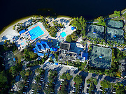 Aerial view of Weston Hills Country Club, Weston, Florida