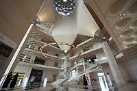 10 APR 2013, DOHA/QATAR<br /> Innenraum Museum of Islamic Arts, Museum fuer Islamische Kunst, Architekt: Ieoh Ming Pei<br /> IMAGE: 20130410-01-060<br /> KEYWORDS: Katar, moderne Architektur