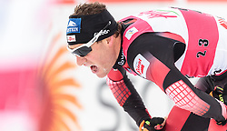 21.02.2016, Salpausselkae Stadion, Lahti, FIN, FIS Weltcup Nordische Kombination, Lahti, Langlauf, im Bild Bernhard Gruber (AUT) // Bernhard Gruber of Austria reacts during Cross Country Gundersen Race of FIS Nordic Combined World Cup, Lahti Ski Games at the Salpausselkae Stadium in Lahti, Finland on 2016/02/21. EXPA Pictures © 2016, PhotoCredit: EXPA/ JFK