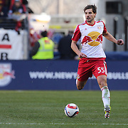 Damien Perrinelle, New York Red Bulls, in action during the New York Red Bulls Vs D.C. United Major League Soccer regular season match at Red Bull Arena, Harrison, New Jersey. USA. 22nd March 2015. Photo Tim Clayton