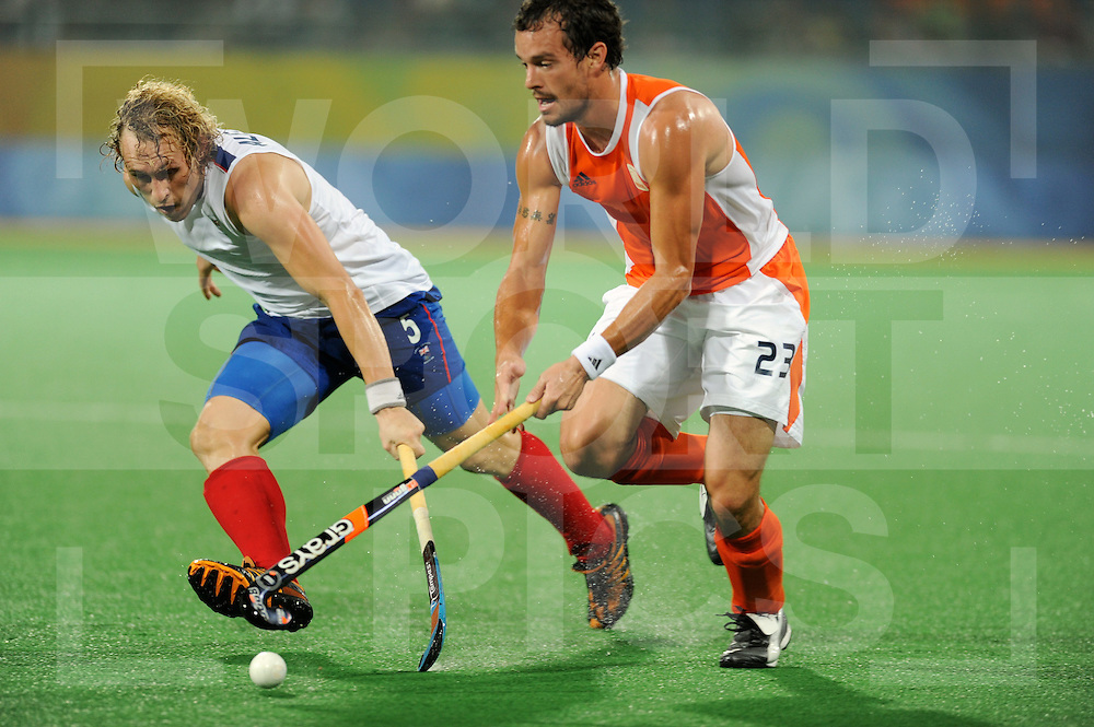 Beijing Olympic Green Hockey Stadium - Hockey.Netherlands v Great Britain men 1-0.Richard Alexander and Timme Hoyng.photo:wsp/Frank Uijlenbroek.