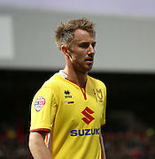 Milton Keynes Dons striker Dean Bowditch unhappy with the loss during the Sky Bet Championship match between Brentford and Milton Keynes Dons at Griffin Park, London, England on 5 December 2015. Photo by Matthew Redman.