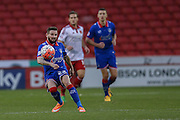 Oldham Athletic midfielder Mark Yeates  during the The FA Cup match between Sheffield Utd and Oldham Athletic at Bramall Lane, Sheffield, England on 5 December 2015. Photo by Simon Davies.