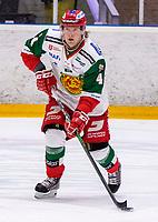 2019-12-02 | Umeå, Sweden: Mora (4) Viktor Amnér in HockeyAllsvenskan during the game  between Björklöven and Mora at A3 Arena ( Photo by: Michael Lundström | Swe Press Photo )<br /> <br /> Keywords: Umeå, Hockey, HockeyAllsvenskan, A3 Arena, Björklöven, Mora, mlbm191202