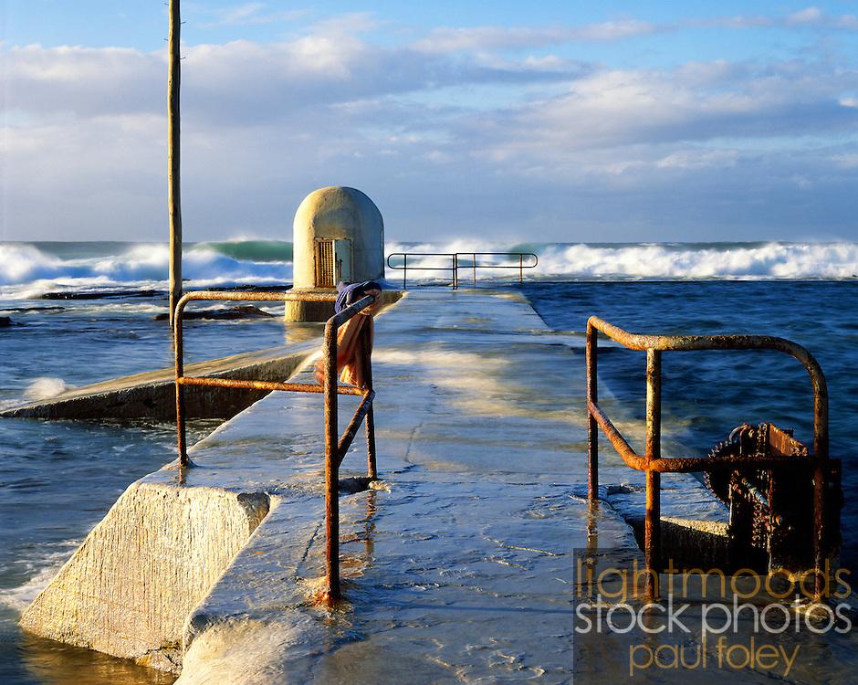 The Swimmers' Towels, Merewether Ocean Baths, Newcastle, Australia.