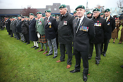 Veterans during a Remembrance Sunday service in Fort William town centre, held in tribute for members of the armed forces who have died in major conflicts.