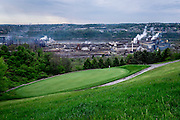 Edgar Thompson Works seen from Grand View Golf Club in North Braddock, Pa. <br />