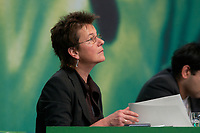 30 NOV 2003, DRESDEN/GERMANY:<br /> Angelika Beer, B90/Gruene, Bundesvorsitzende, <br /> 22. Ordentliche Bundesdelegiertenkonferenz Buendnis 90 / Die Gruenen, Messe Dresden<br /> IMAGE: 20031130-01-047<br /> KEYWORDS: Bündnis 90 / Die Grünen, BDK<br /> Parteitag, party congress, Bundesparteitag
