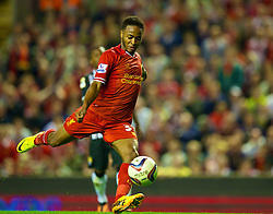 27.08.2013, Anfield, Liverpool, ENG, League Cup, FC Liverpool vs Notts County FC, 2. Runde, im Bild Liverpool's Raheem Sterling in action against Notts County during the English League Cup 2nd round match between Liverpool FC and Notts County FC, at Anfield, Liverpool, Great Britain on 2013/08/27. EXPA Pictures © 2013, PhotoCredit: EXPA/ Propagandaphoto/ David Rawcliffe<br /> <br /> ***** ATTENTION - OUT OF ENG, GBR, UK *****