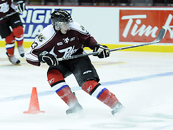 Ryan Spooner of the Peterborough Petes participates in Next Testing at the Home Hardware CHL Top Prospects Game in Windsor, ON on Tuesday. Photo by Aaron Bell/CHL
