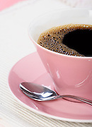Close up of cup with coffee