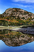 Beehive mountain and salt pond at Sand Beach, Acadia NP, Maine, USA.