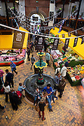The English Market covered 19th century marketplace in Cork City, Ireland. The Market is famous for its locally produced food, in particular meat, cheeses, and fish