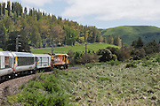 New Zealand Northern Explorer Train journey from Wellington to Auckland on Sunday 01 November 2015 at 0755. <br />