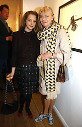 Left to right, DAISY DE VILLENEUVE and her mother JAN DE VILLENEUVE at a private view of 'Works on Paper' by various artists held at Eleven, 11 Eccleston Street, London SW1 on 10th January 2007.<br /><br />NON EXCLUSIVE - WORLD RIGHTS