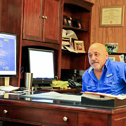 Vance Breaux, president at Breaux Brothers Enterprises Inc sits in his office in Loreauville, Louisiana, U.S., on Friday, August 19, 2016.  Photographer: Derick E. Hingle/Bloomberg