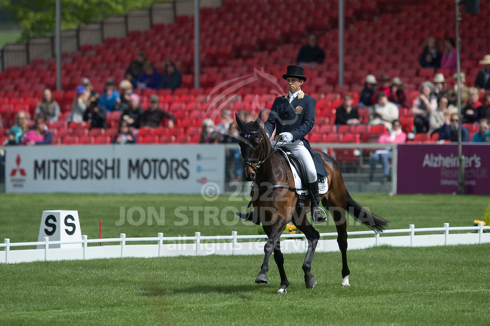Sam Griffiths (AUS) & Happy Times - Dressage - Mitsubishi Motors Badminton Horse Trials - CCI4* - Badminton, Gloucestershire, United Kingdom - 03 May 2013