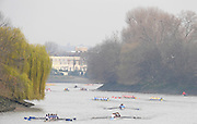Putney/Barnes,  Great Britain,  GV from  Barnes Rail Bridge. down towards  Chiswick Mall  - 2008 Head of the River Race. Raced from Mortlake to Putney, over the Championship Course.  15/03/2008  [Mandatory Credit. Peter Spurrier/Intersport Images] Rowing Course: River Thames, Championship course, Putney to Mortlake 4.25 Miles,