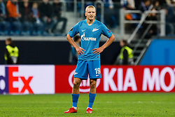 February 21, 2019 - Saint Petersburg, Russia - Igor Smolnikov of FC Zenit Saint Petersburg looks on during the UEFA Europa League Round of 32 second leg match between FC Zenit Saint Petersburg and Fenerbahce SK on February 21, 2019 at Saint Petersburg Stadium in Saint Petersburg, Russia. (Credit Image: © Mike Kireev/NurPhoto via ZUMA Press)